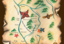 Green Valley Map - Colored Pencils on Paper by Ana Luisa Rincon
