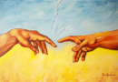 Creation of Adam - Oil on Canvas by Ana Luisa Rincon - 2012