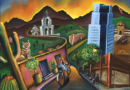 Tucson Glowing - Oil on Canvas by Ana Luisa Rincon - 2008