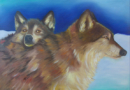 Wolves - Oil on Canvas by Ana Luisa Rincon - 2008