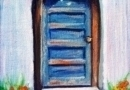 Door with Steps - Oil on Canvas by Ana Luisa Rincon