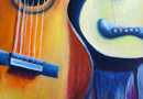 Guitars - Oil on Canvas by Ana Luisa Rincon