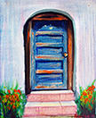 Door with Steps Oil on Canvas by Ana Luisa Rincón